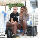 Serena Williams and Caroline Wozniacki Bikini Candids In Miami