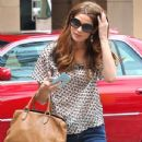 Ashley Greene was out and about for lunch in Los Angeles, California on August 3, 2012