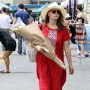 Bethany Joy Lenz in Red Dress – Buys flowers in Studio City - 454 x 681