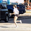 Miley Cyrus in Shorts – Shopping in Savannah