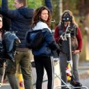 Michelle Keegan – Filming 'Brassic' TV Show in Lancashire - 454 x 590
