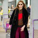 Karen Gillan – Arrives at Heathrow Airport in London