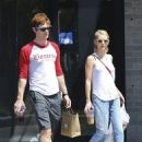 Evan Peters and Emma Roberts – Grab Lunch at Sam's Bagels on Larchmont in Los Angeles 8/29/2016 - 454 x 642