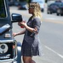 Hilary Duff in Mini Dress – Shopping in Studio City
