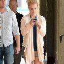 Britney Spears Leaving A Nail Salon In La