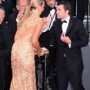 How embarrassing! A bra-less Lady Victoria Hervey gets kicked off the red carpet in Cannes after posing for too long - 454 x 730