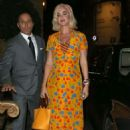 Katy Perry is seen arriving at The Ham Yard Hotel in London