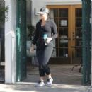 Demi Lovato in Tights at a gym in West Hollywood