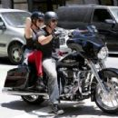 LeAnn Rimes with her hubby Eddie Cibrian on the Harley (July 7)