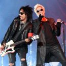 Nikki Sixx and James Michael of Sixx:A.M. perform at The Joint inside the Hard Rock Hotel & Casino on April 10, 2015 in Las Vegas, Nevada - 454 x 354