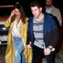 Priyanka Chopra and Nick Jonas at Craig's restaurant in West Hollywood