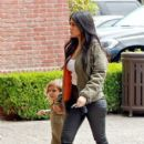 Kourtney Kardashian is seen taking her daughter Penelope Disick to Color Me Mine in Calabasas, California on May 9, 2016