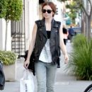 Lily Collins out and about in Beverly Hills, CA (November 9)