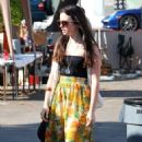 Lily Collins was spotted at the Fairfax Flea Market in West Hollywood, CA this past weekend