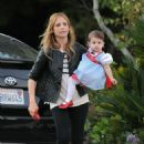 Sarah Michelle Gellar And Her Daughter Charlotte Out & About In Brentwood (10/31/10)