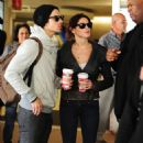 Joe Jonas and Ashley Greene airport duo with their dog, Marlo