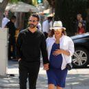 Eva Longoria in Blue Dress out in Beverly Hills - 454 x 681