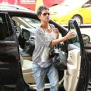 Halle Berry taking Nahla and friend to the movies in Hollywood (August 25)