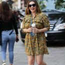 Kelly Brook – Arrives at Heart Radio in London