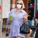Chloe Sevigny – Looks super stylish in mini skirt dress in New York