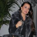 Kyle Richards arriving at Chateau Marmont for dinner Tuesday night with friends