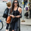 Olivia Munn spotted out and about in New York City, New York on September 9, 2014