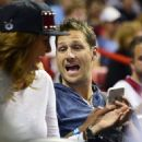 Juan Pablo Galavis attends a Miami Heat basketball game with friends on December 17, 2014 in Miami, Florida - 454 x 537