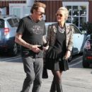 Johnny Hallyday is seen visiting the Brentwood Country Mart with his wife Laeticia on February 2, 2015 in Brentwood, California - 454 x 596