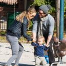Elizabeth Berkley & Family Spend Christmas Day At The Park