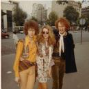 Charlotte Martin and Eric Clapton with Ginger Baker, Paris 1967.