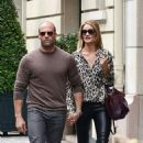 Rosie Huntington Whiteley and Jason Statham out in Paris (September 25)