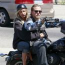 """Charlie Hunnam on the set of """"Sons of Anarchy"""" in Los Angeles, California on June 25, 2012"""