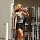 Audrina Patridge in Black Shorts – Out in Irvine