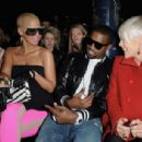 Amber Rose and Kayne West attend the Stella McCartney Ready-to-Wear A/W 2009 fashion show during Paris Fashion Week at Carreau du Temple in Paris, France -  March 9, 2009 - 454 x 306