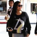 Christina Milian  out to lunch with friends at Il Pastaio in Beverly Hills, California on January 11, 2017 - 454 x 593