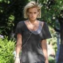 Nicky Whelan – Walking her dog in Sherman Oaks