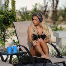 Bianca Gascoigne in Black Bikini in Cyprus - 454 x 375