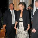 Kate Moss leaves Harry's Bar after the Help For Heroes dinner and charity auction