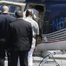 Corey Gamble seen taking off in a helicopter in Van Nuys, California on August 15, 2015 - 451 x 600