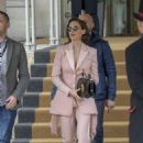 Alison Brie – Leaving her hotel in Rome