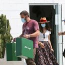 Ana De Armas – Looks cute in summer dress with Ben Affleck at Nick Fouquet hat shop in Venice - 454 x 685