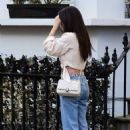 Amy Jackson – In her white blouse top and jeans out and about in Chelsea - 454 x 710