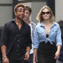 Gary Dourdan and an unidentified blonde woman are spotted walking around Manhattan's Soho neighborhood on September 2, 2016 - 454 x 582