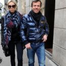 Celebrity Sightings in Milan - Liliana and Lothar walking in Italy