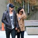 Vanessa Hudgens strolled hand in hand with her boyfriend, Austin Butler, in the SoHo neighborhood of New York City today, March 24