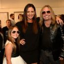 Aubrey Evans, Sara Evans and Vince Neil attend the 2014 CMT Music Awards at Bridgestone Arena on June 4, 2014 in Nashville, Tennessee