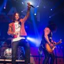 """Myles Kennedy and Slash perform for the """"Slash featuring Myles Kennedy and The Conspirators concert"""" at Terminal 5 on May 7, 2015 in New York City."""