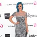 Katy Perry's Blue-Tiful Night At The Elton John Oscar Party