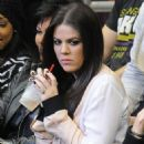 Khloe Kardashian: Looking a bit stressed by the close game between the Los Angeles Clippers and the Lakers