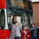 Sofia Carson – Descendants 2 promotion Aboard a London Bus - 454 x 702